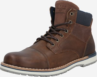 BULLBOXER Lace-up boots in dark blue / cognac, Item view