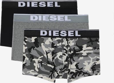 DIESEL Boxershorts in stone / hellgrau / dunkelgrau / graumeliert / schwarz, Produktansicht