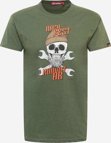 Derbe T-shirt 'NFKA' i grön