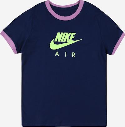 Nike Sportswear Tričko - námořnická modř / svítivě zelená / fialová, Produkt