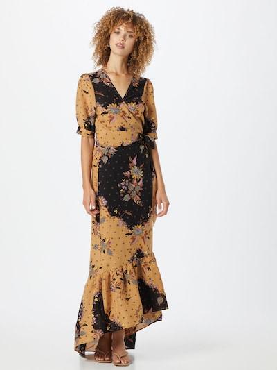 SCOTCH & SODA Kleid in beige / blau / rosé / schwarz, Modelansicht