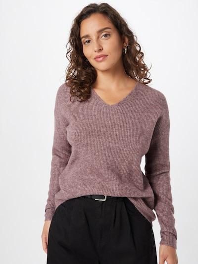 ONLY Pullover 'CAMILLA' in braunmeliert / rosa, Modelansicht