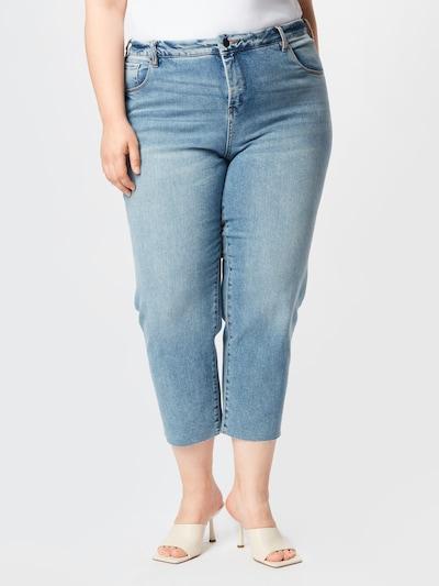 Zizzi Jeans 'VERA' in blue denim, Modelansicht
