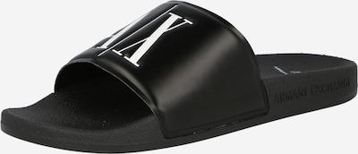 ARMANI EXCHANGE Чехли в черно / бяло, Преглед на продукта