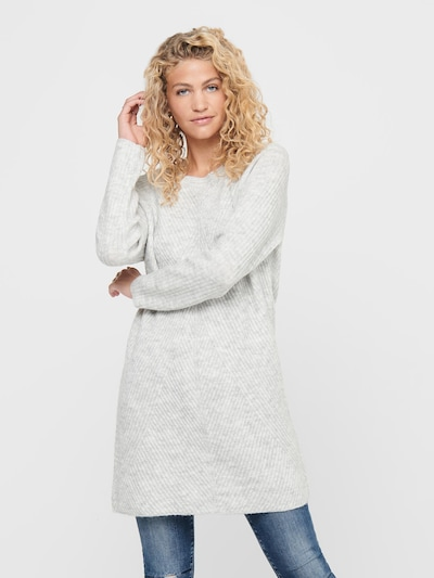 ONLY Úpletové šaty 'Carol' - světle šedá, Model/ka