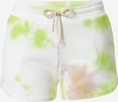ONLY PLAY Pantalon de sport 'MANU' en sable / vert clair / blanc, Vue avec produit