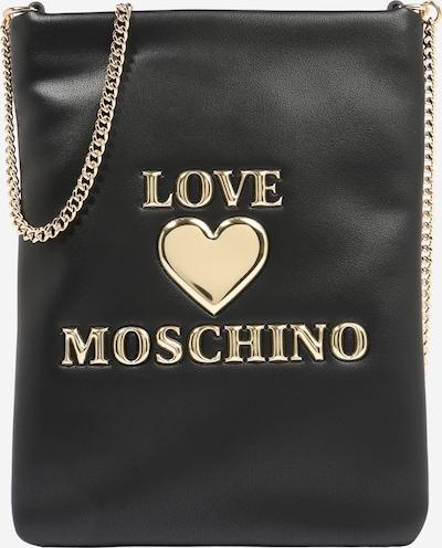 Love Moschino Torba preko ramena u zlatna / crna: Prednji pogled