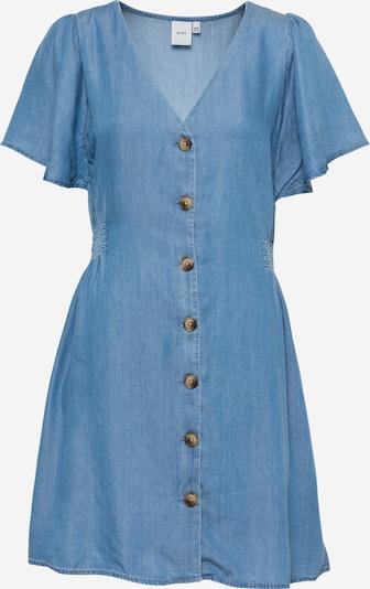 ICHI Košeľové šaty - modrá: Pohľad spredu