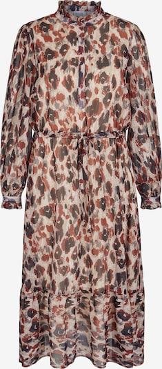 Rock Your Curves by Angelina K. Shirt Dress in Beige / Mixed colors, Item view