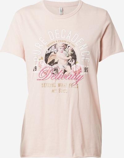 ONLY T-Shirt in gold / rosé / weiß, Produktansicht