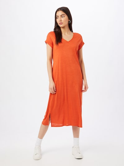 VILA Robe 'NOEL' en orange, Vue avec modèle