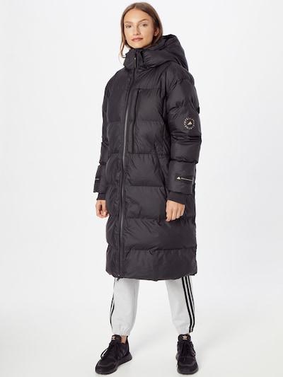 Žieminis paltas 'aSMC LNG PUFFER' iš adidas by Stella McCartney, spalva – juoda, Modelio vaizdas
