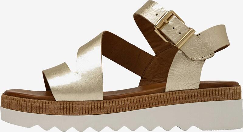INUOVO Sandalen met riem in Goud c5RauEN3