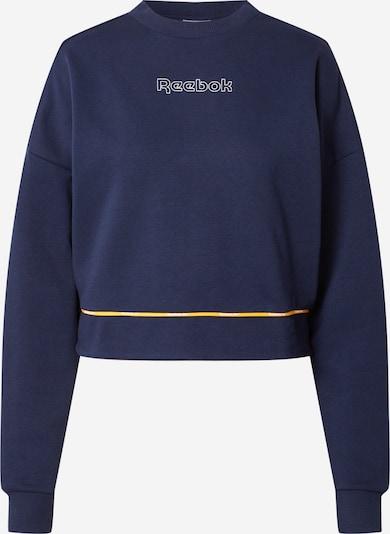 Reebok Sport Športna majica | mornarska / rumena / bela barva, Prikaz izdelka