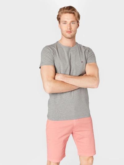 TOMMY HILFIGER T-Shirt en bleu marine / gris chiné / rouge / blanc: Vue de face