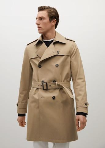 MANGO MAN Overgangsfrakk i brun