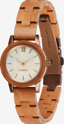 LAiMER Analog Watch 'Noemi' in Brown