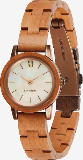 LAiMER Uhr 'Noemi' in braun / weiß, Produktansicht