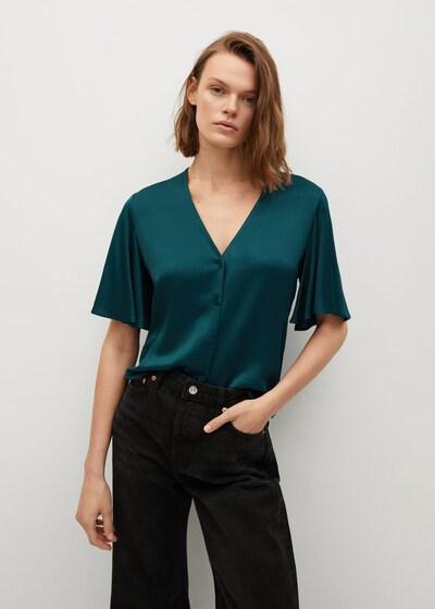 MANGO Bluse in dunkelgrün, Modelansicht