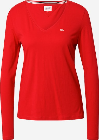 Tommy Jeans T-shirt en rouge, Vue avec produit