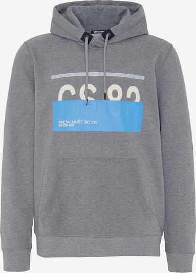 CHIEMSEE Sportsweatshirt 'LOREDO' in hellblau / graumeliert / weiß, Produktansicht