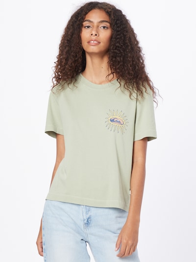 QUIKSILVER Shirt 'STAR SLIDE CROP TEE' in hellgrün: Frontalansicht
