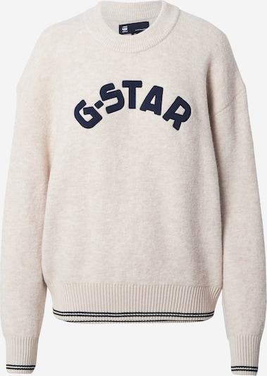 G-Star RAW Pullover in creme / schwarz, Produktansicht