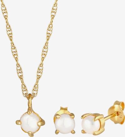ELLI Conjunto de joyería 'Perle, Perlenohrstecker' en oro, Vista del producto