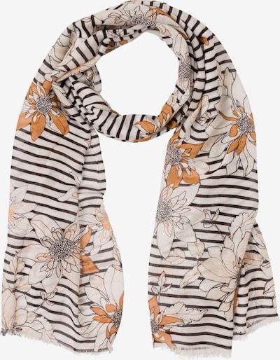 Olsen Schal in orange / schwarz / weiß, Produktansicht