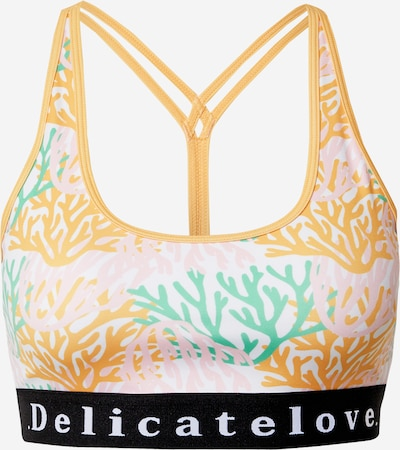 DELICATELOVE Sports bra 'Shiva' in Yellow / Jade / Pink / Black / White, Item view