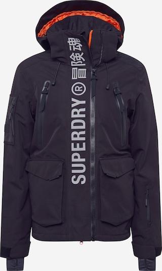 Superdry Outdoorjas in de kleur Zwart / Wit, Productweergave