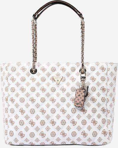 GUESS Nakupovalna torba 'CESSILY' | rjava / bela barva, Prikaz izdelka