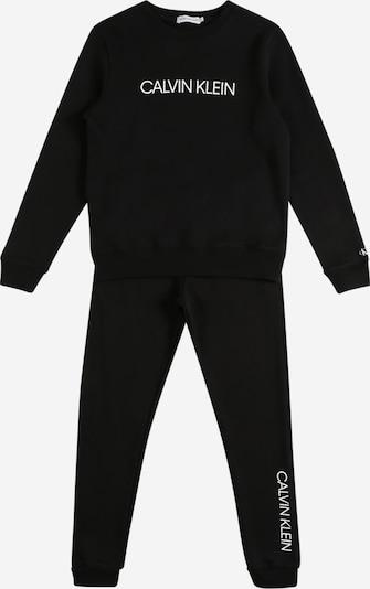 Calvin Klein Jeans Jogginganzug in schwarz / weiß, Produktansicht