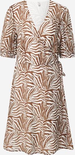 PULZ Jeans Kleid 'PZBERETHE' in braun / weiß, Produktansicht
