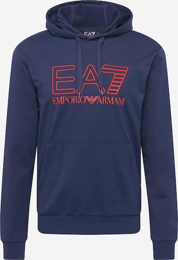 EA7 Emporio Armani Sweatshirt 'FELPA' in dark blue / red, Item view