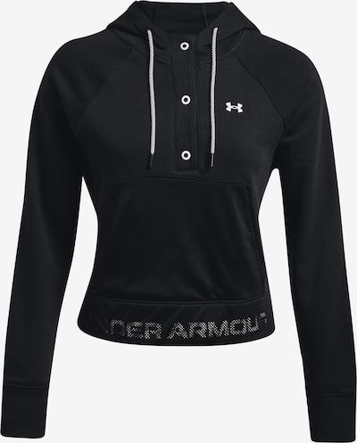UNDER ARMOUR Sweatshirt 'Rival' in schwarz / weiß, Produktansicht