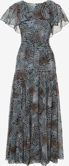 Madam-T Kleid 'Elizabetta' in pastellblau / braun / schwarz / weiß, Produktansicht