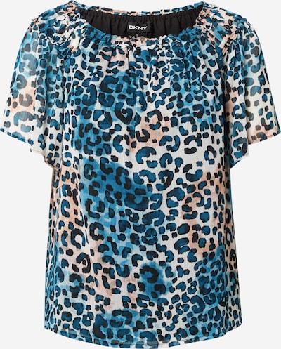 DKNY Blouse in de kleur Beige / Blauw / Lichtbruin / Zwart, Productweergave