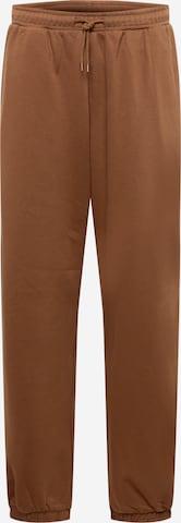 WEEKDAY Püksid, värv pruun