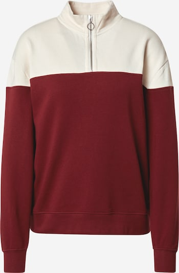 MELAWEAR Sweatshirt 'Leela' in burgunder / offwhite, Produktansicht