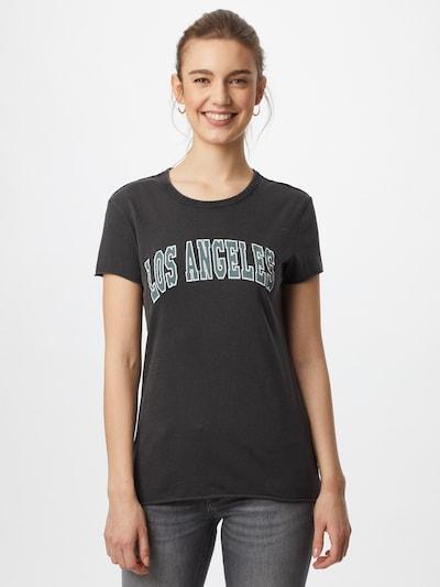 ONLY Majica 'APPLE' | opal / črna / bela barva: Frontalni pogled