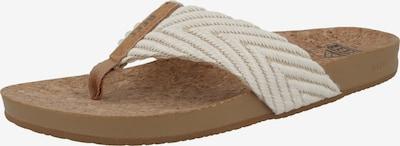 REEF Claquettes / Tongs 'Cushion Strand' en beige / marron, Vue avec produit
