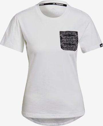 adidas Terrex T-Shirt in Weiß