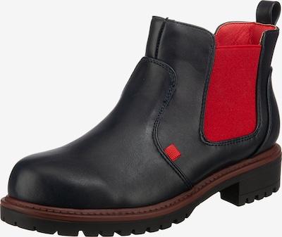 Inselhauptstadt Chelsea Boots in nachtblau / rot, Produktansicht