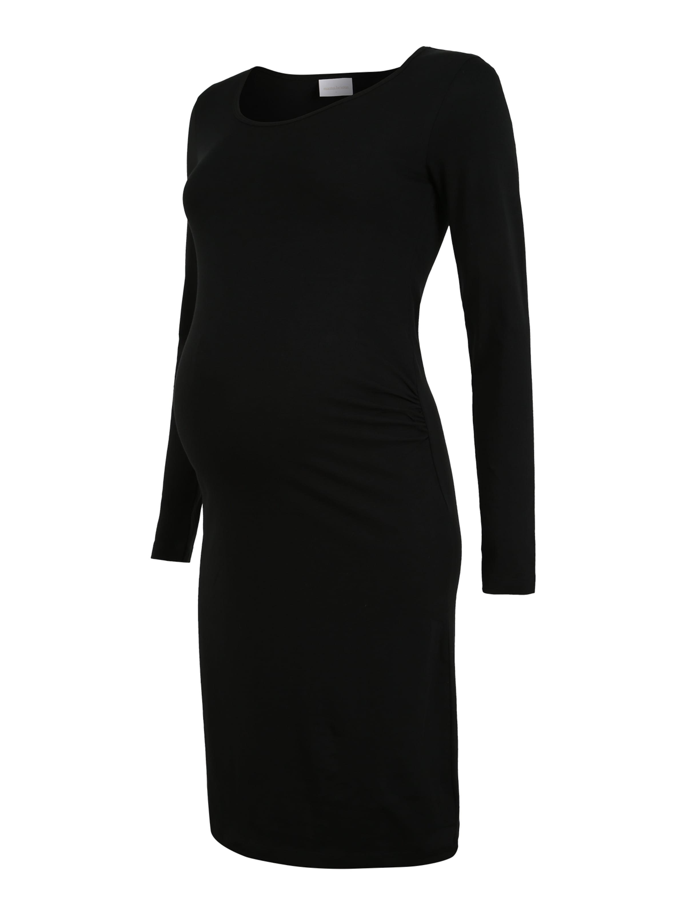 MAMALICIOUS Umstandskleid in schwarz