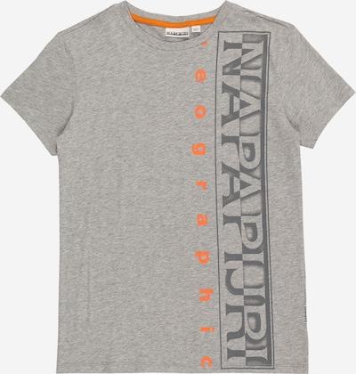 NAPAPIJRI Majica u siva melange / narančasta / crna, Pregled proizvoda