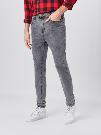 Urban Classics Curvy Jeans in de kleur Zwart gemêleerd: Vooraanzicht