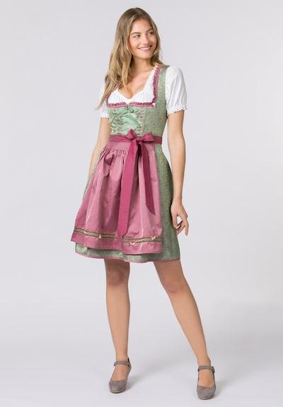 STOCKERPOINT Dirndl in de kleur Groen / Pink, Modelweergave