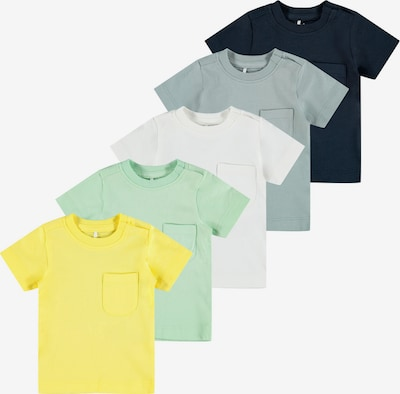 NAME IT T-Shirt in blau / gelb / mint / jade / weiß, Produktansicht