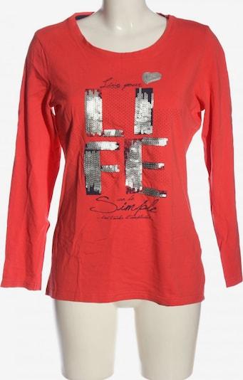 Gina Benotti Longsleeve in L in rot / schwarz / silber, Produktansicht
